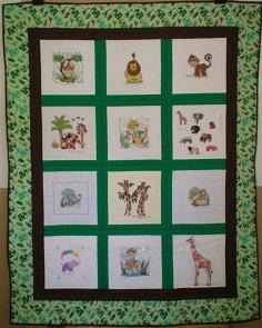 Photo of (QUILTED) Jungle Animals E01s quilt