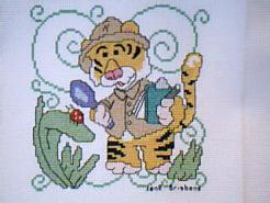Cross stitch square for (QUILTED) Jungle Animals E01's quilt