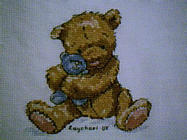 Any child cross stitch category: Teddies