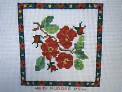 Cross stitch square for Imogen R's quilt