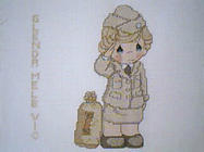 Any child cross stitch category: Pictures of Girls