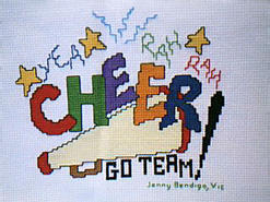 Cross stitch square for Sport E01's quilt