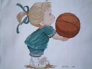 Any child cross stitch category: Sport/Exercise
