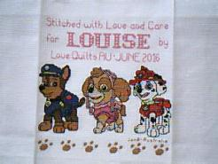 Cross stitch square for Louise C's quilt