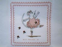 Cross stitch square for (QUILTED) Mice E01's quilt