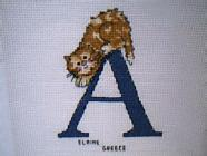 Any child cross stitch category: A - Alphabet
