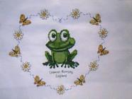 Any child cross stitch category: Frogs